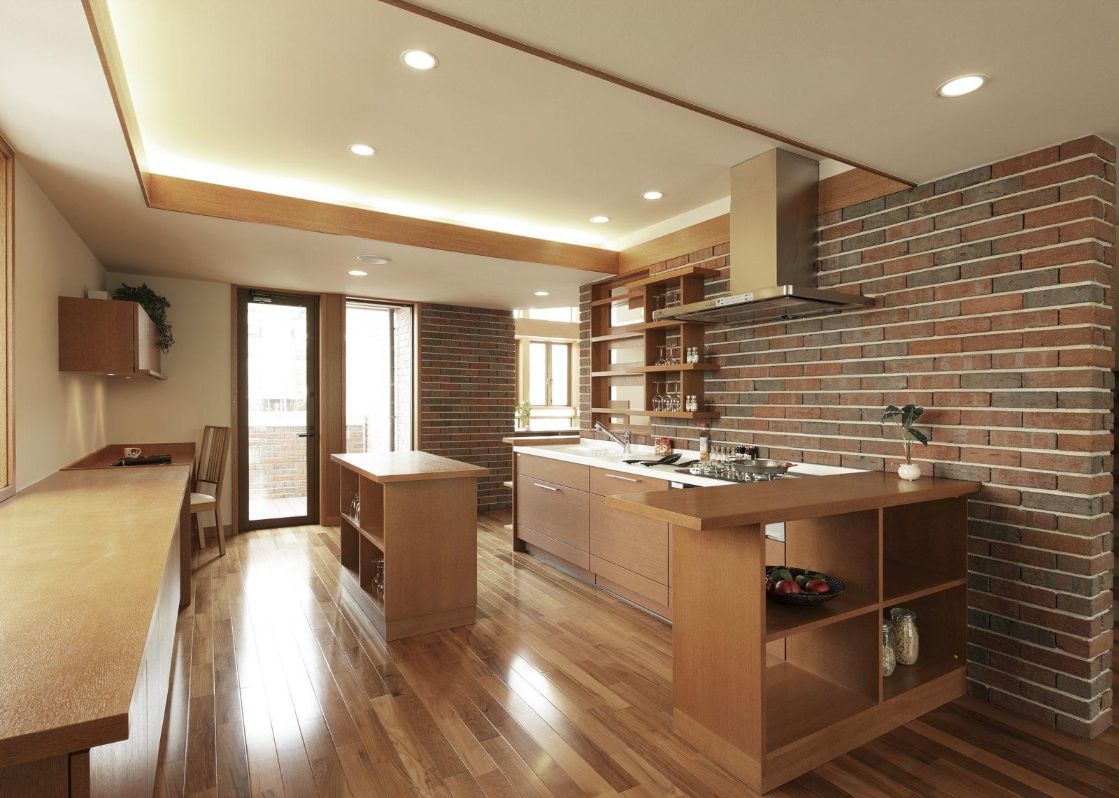 キッチン・センター作業台(キーストーン)オーガニックハウス北九州