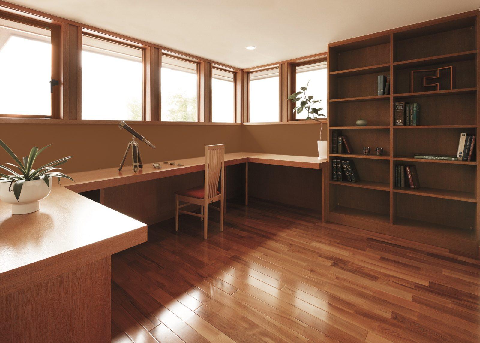 書斎・長い机と窓(キーストーン)オーガニックハウス北九州