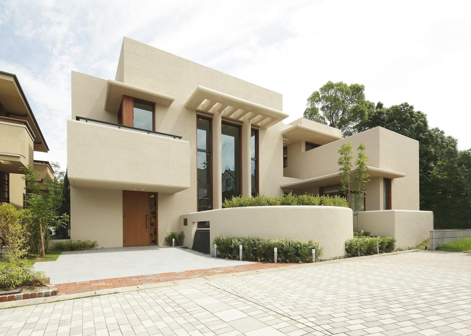 外観 オーガニックハウス北九州イコーハウス注文住宅デザインmoonstreamスタイル