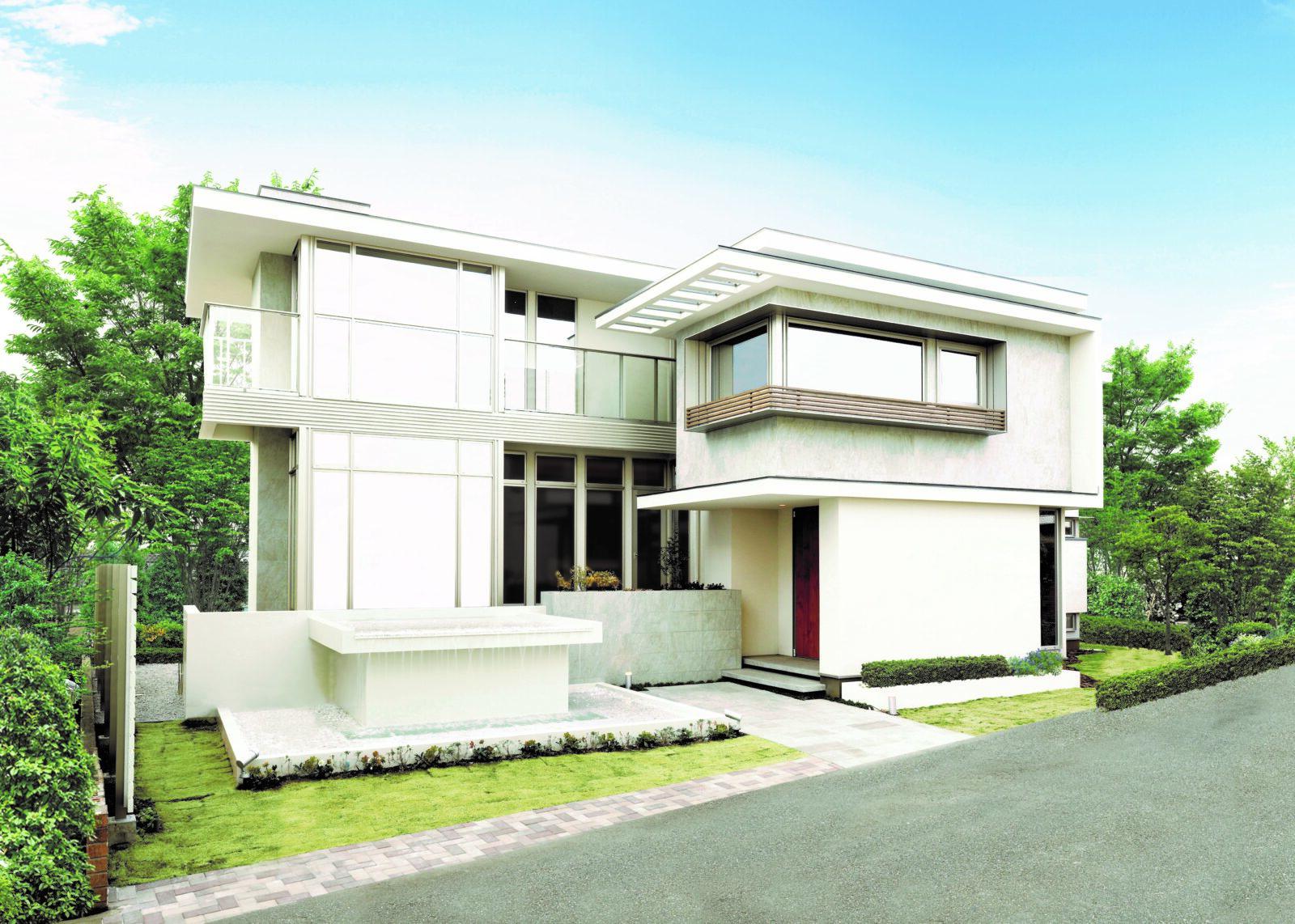 北九州の高級デザイン住宅新築外観スタイル「インテグラル」【オーガニックハウス北九州中央】
