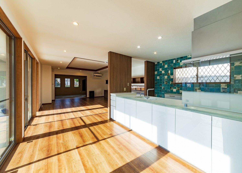 北九州デザイン対面キッチン新築住宅オーガニックハウス