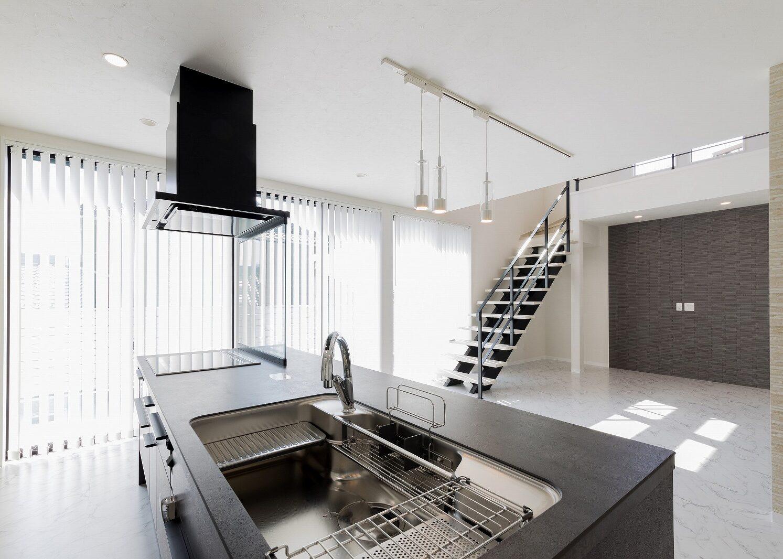 北九州デザインアイランドキッチンテラス新築住宅オーガニックハウス