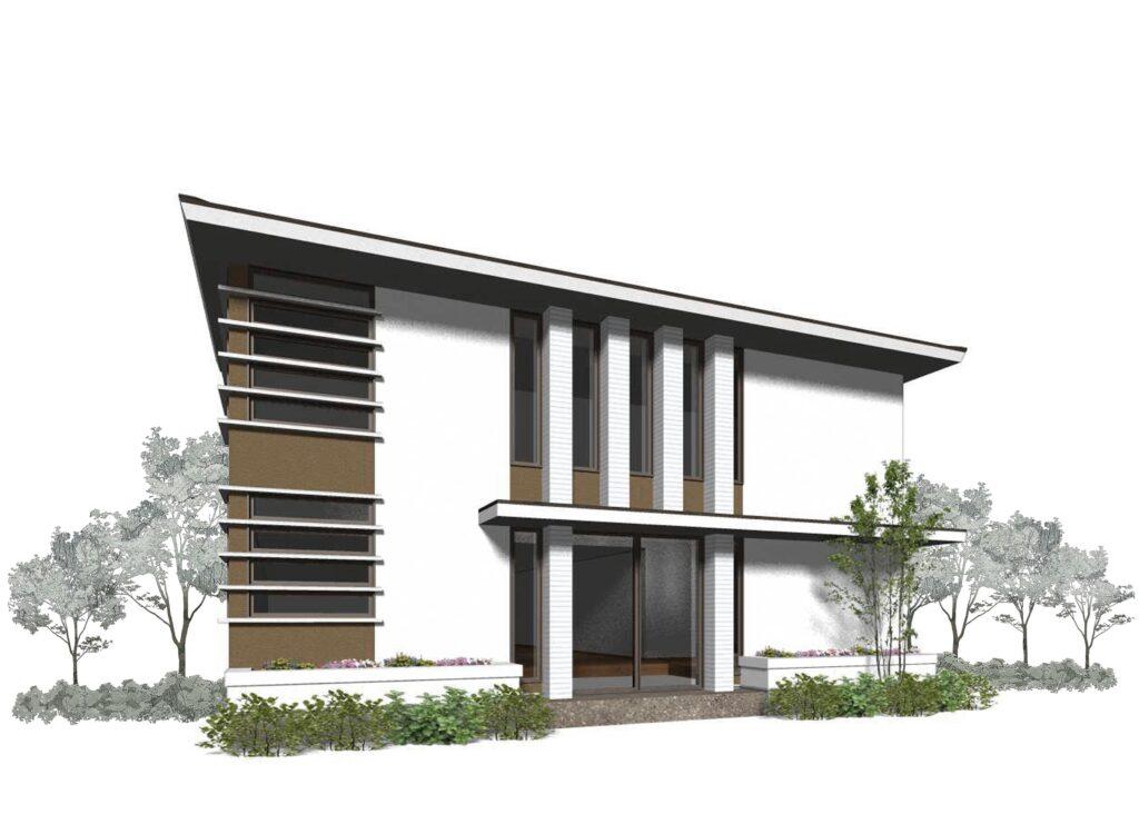 北九州 クリニック建築外観プラン オーガニックハウス